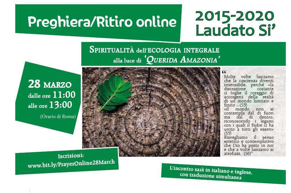 UISG - RITIRO ONLINE SPIRITUALITÀ DELL'ECOLOGIA INTEGRALE ALLA LUCE DI QUERIDA AMAZONIA